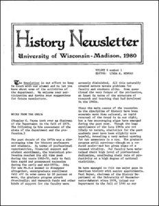 History Newsletter 1980