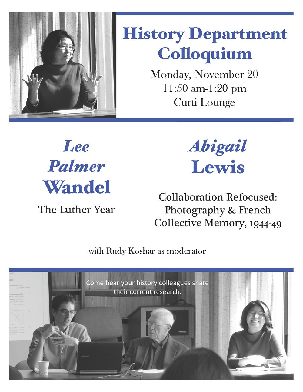 Event Poster: Department Colloquium