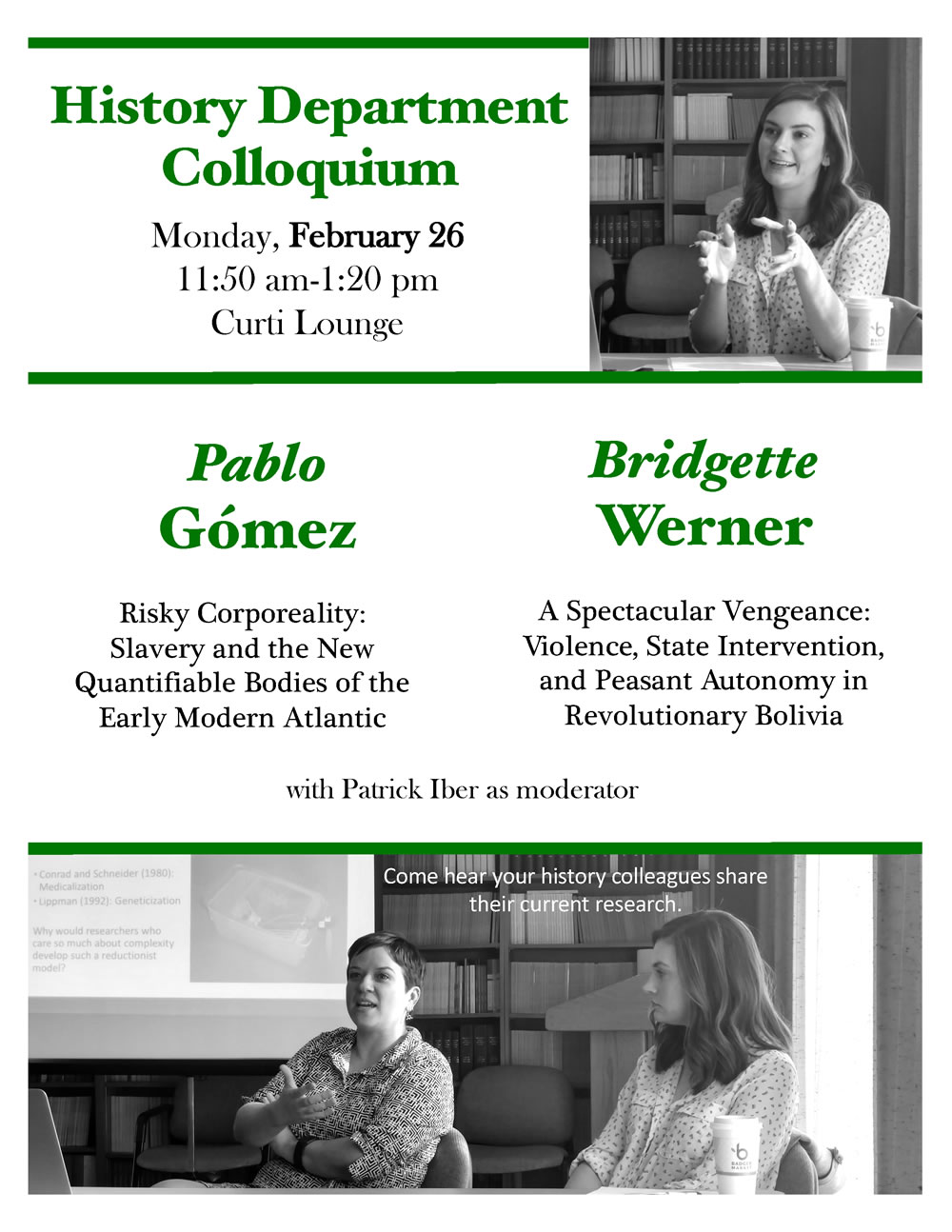 Event Poster - Department Colloquium