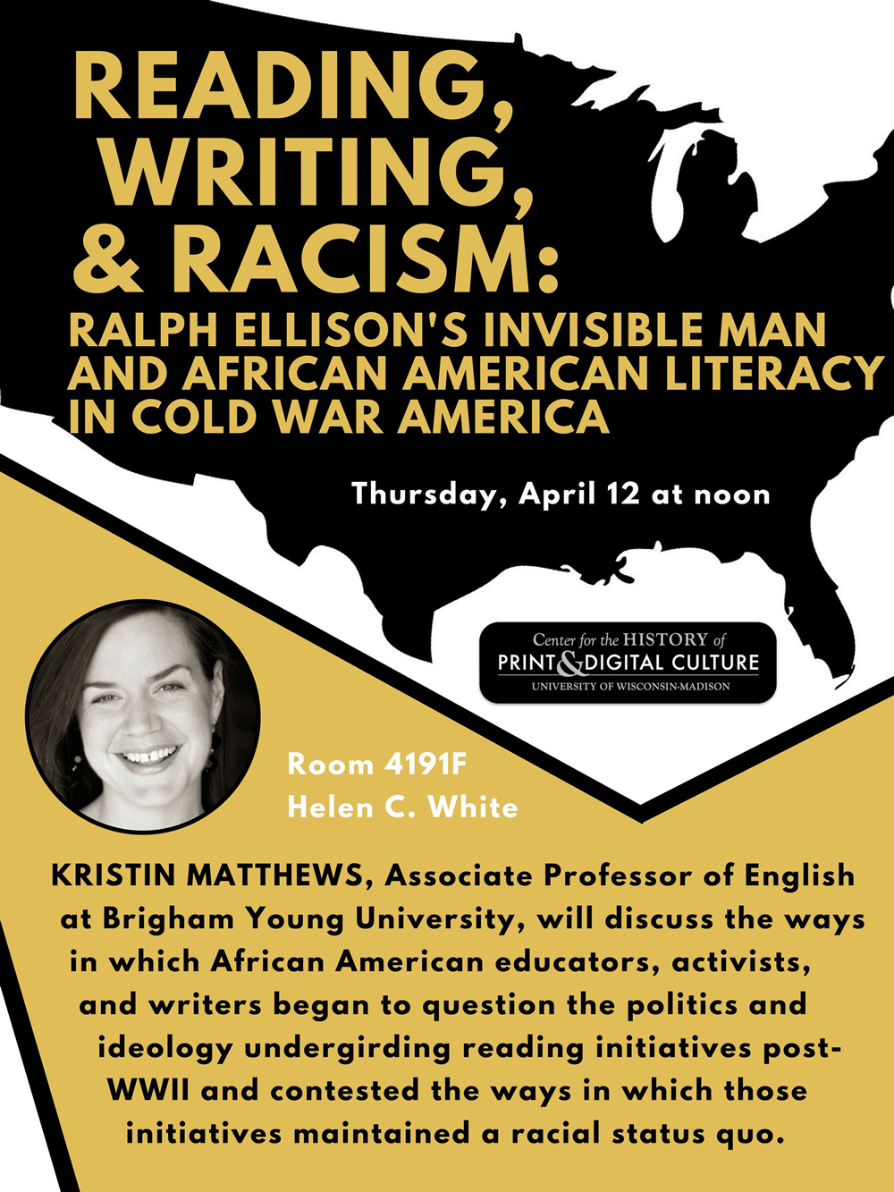 Event Poster: Kristin Matthews