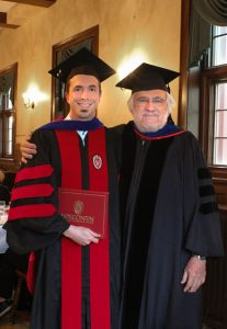 David Fields with Prof. William Reese