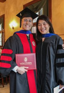 Sergio Gonzalez with Prof. Cindy I-Fen Cheng