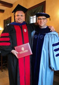 Kevin Walters with Prof. John Hall