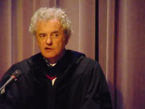 Department Chair, Professor Laird Boswell addresses the graduates