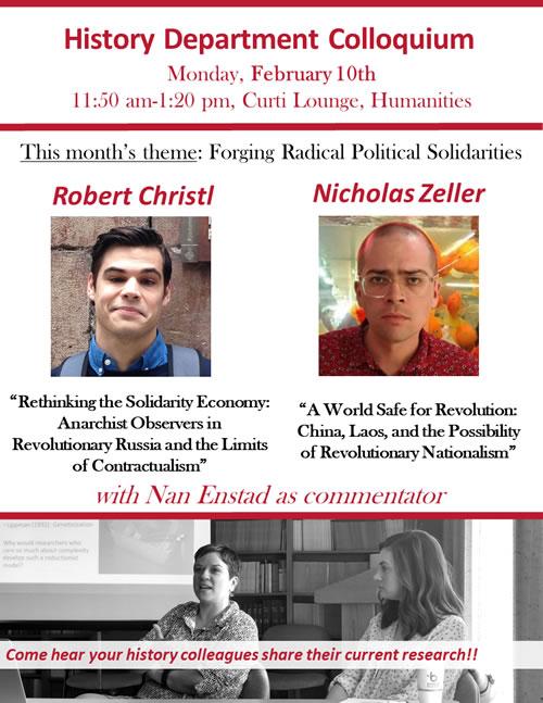 Event Poster - Dept Colloquium