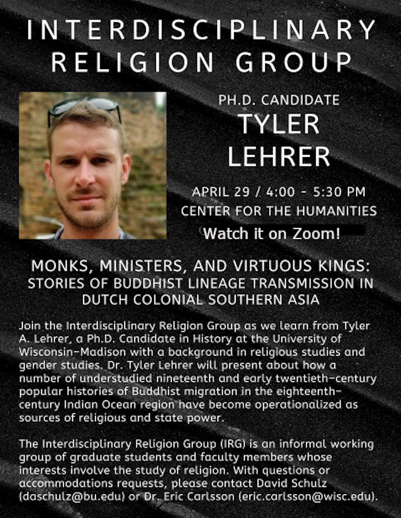 Event Poster: Tyler Lehrer