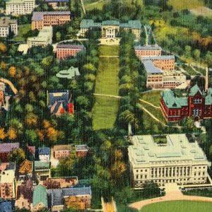 Aeroplane view of University of Wisconsin - Madison