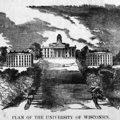Drawing of Bascom Hall