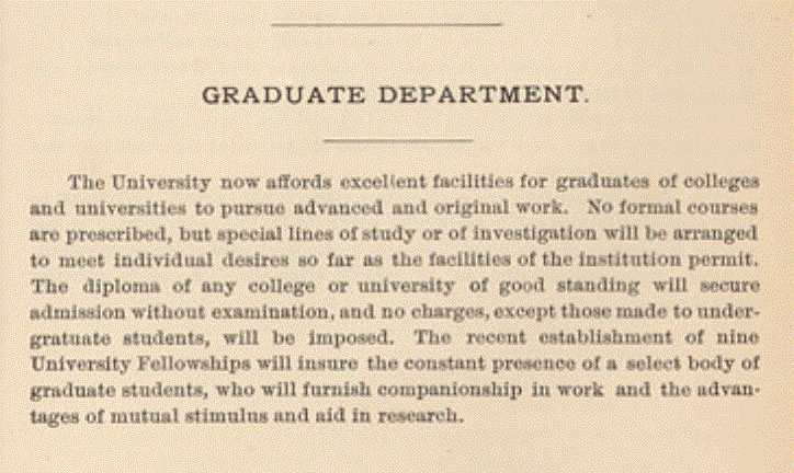 1889-1890 UW Course Catalog, p. 65, in UW Digital Collections