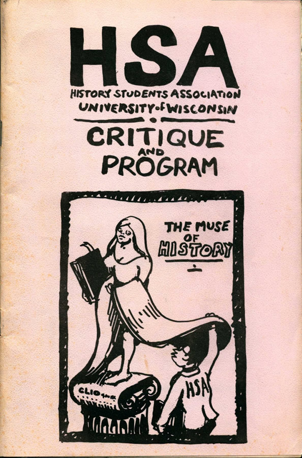 UW History Graduate Student Association brochure, 1968