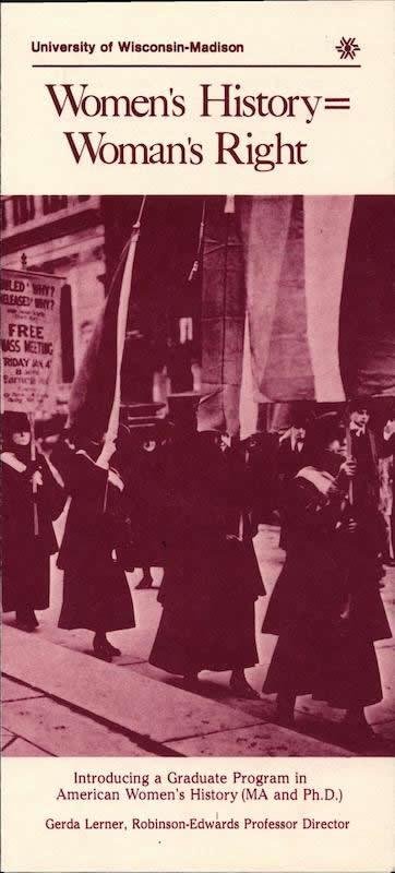 Image s cover of Women's Historu-Women's Right brochure.