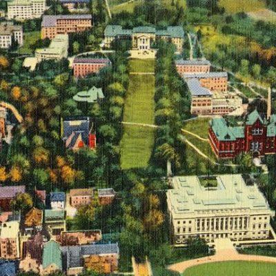 Aeroplane view of University of Wisconsin – Madison