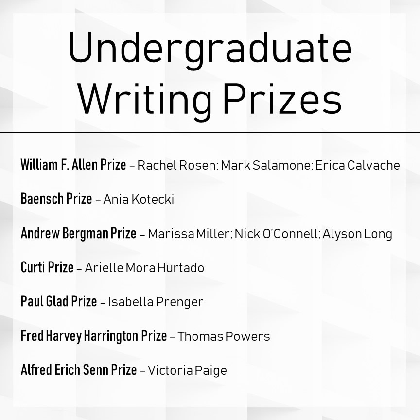Undergraduate Awards Winners Slide 1