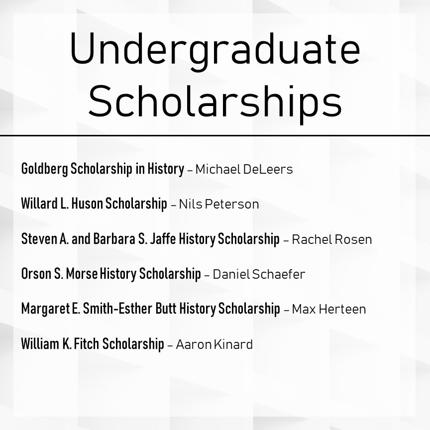 Undergraduate Awards Winners Slide 2