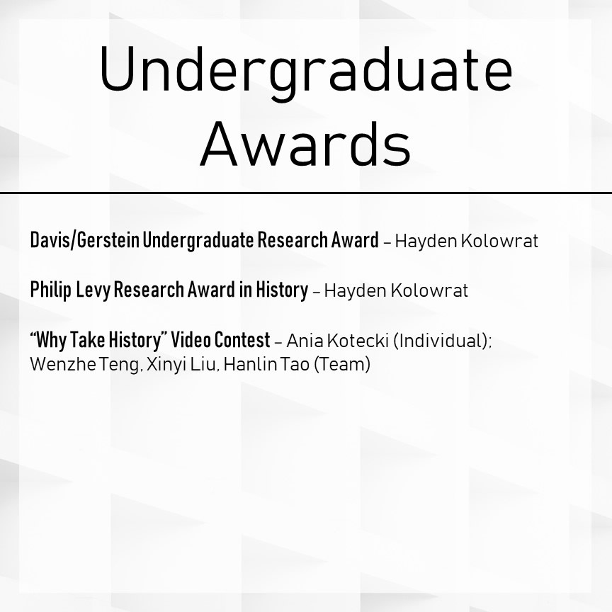 Undergraduate Awards Winners Slide 3