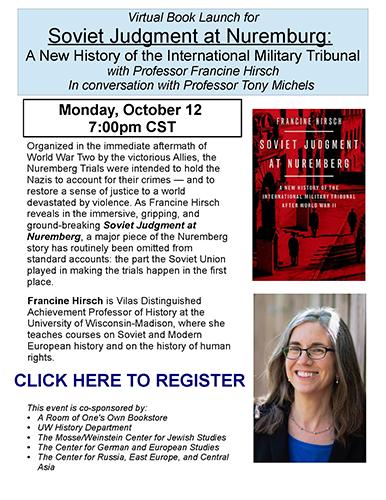 Event Poster - Hirsch Virtuasl Book talk