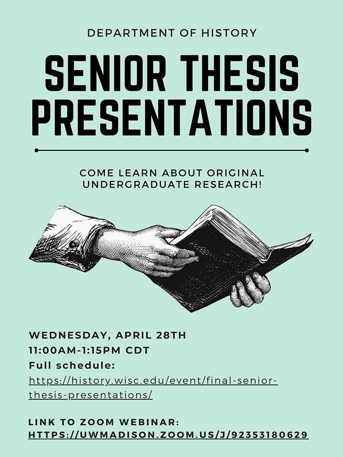 Event Poster: Senior Thesis Presentations