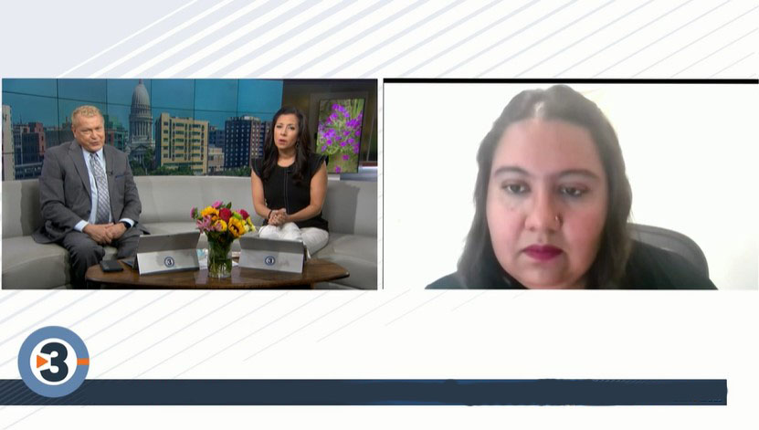 Mou Banerjee in Channel 3 News