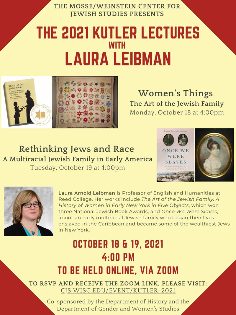 Event Poster: Kutler Lectures