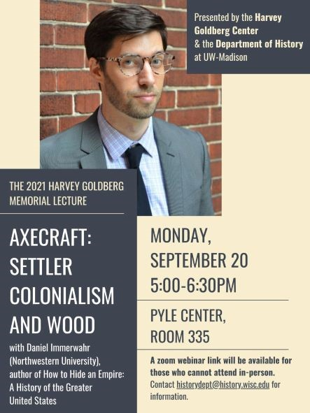 Event Poster: Harvery Goldberg Lecture