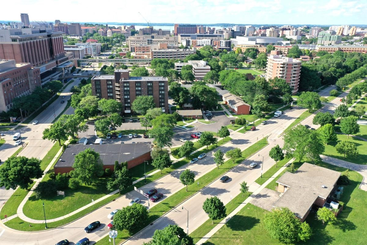 Arial view of Madison